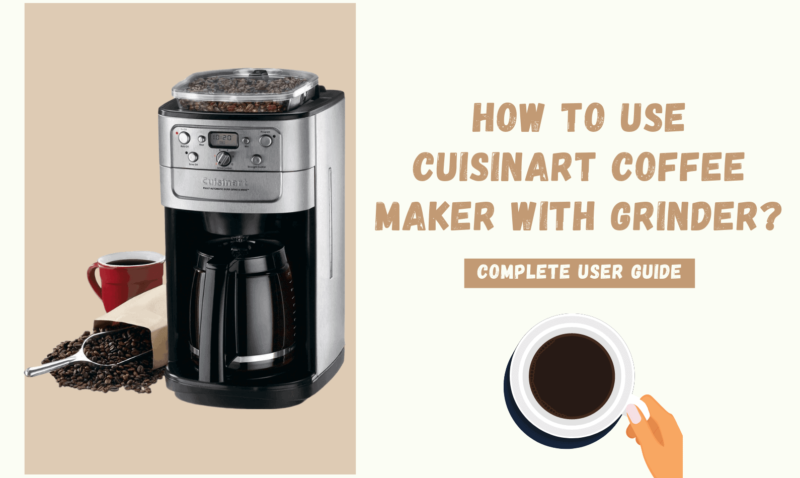 How to use Cuisinart Coffee Maker with Grinder